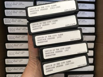 Photo of the microfilms we received