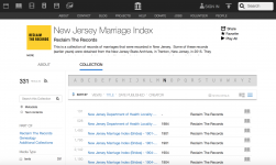 Screenshot of the New Jersey Marriage Index on the Internet Archive