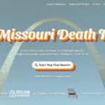 Screenshot of the Missouri Death Index website