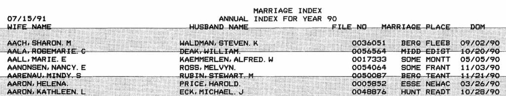 Reclaim The Records - New Jersey Marriage Index - example #4
