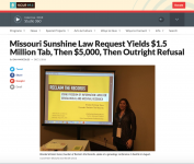 KCUR NPR article on Missouri Sunshine Law case