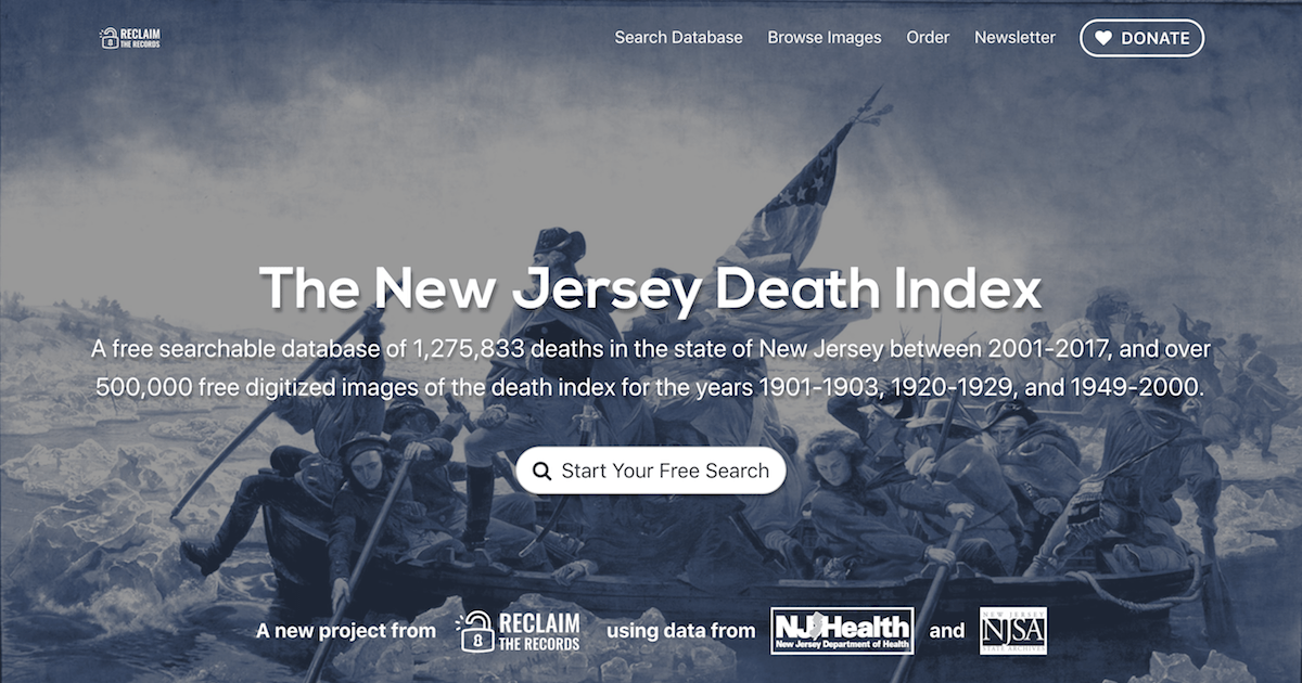 New Jersey Death Index 1904 2017 Reclaim The Records