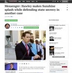 St. Louis Post-Dispatch article on Missouri Sunshine Law case