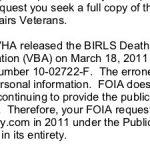 Reclaim The Records vs Veterans Affairs