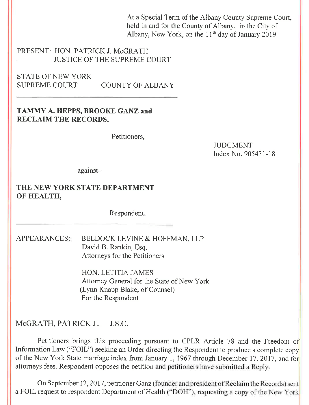 Supreme Court Judgment (March 13, 2019)