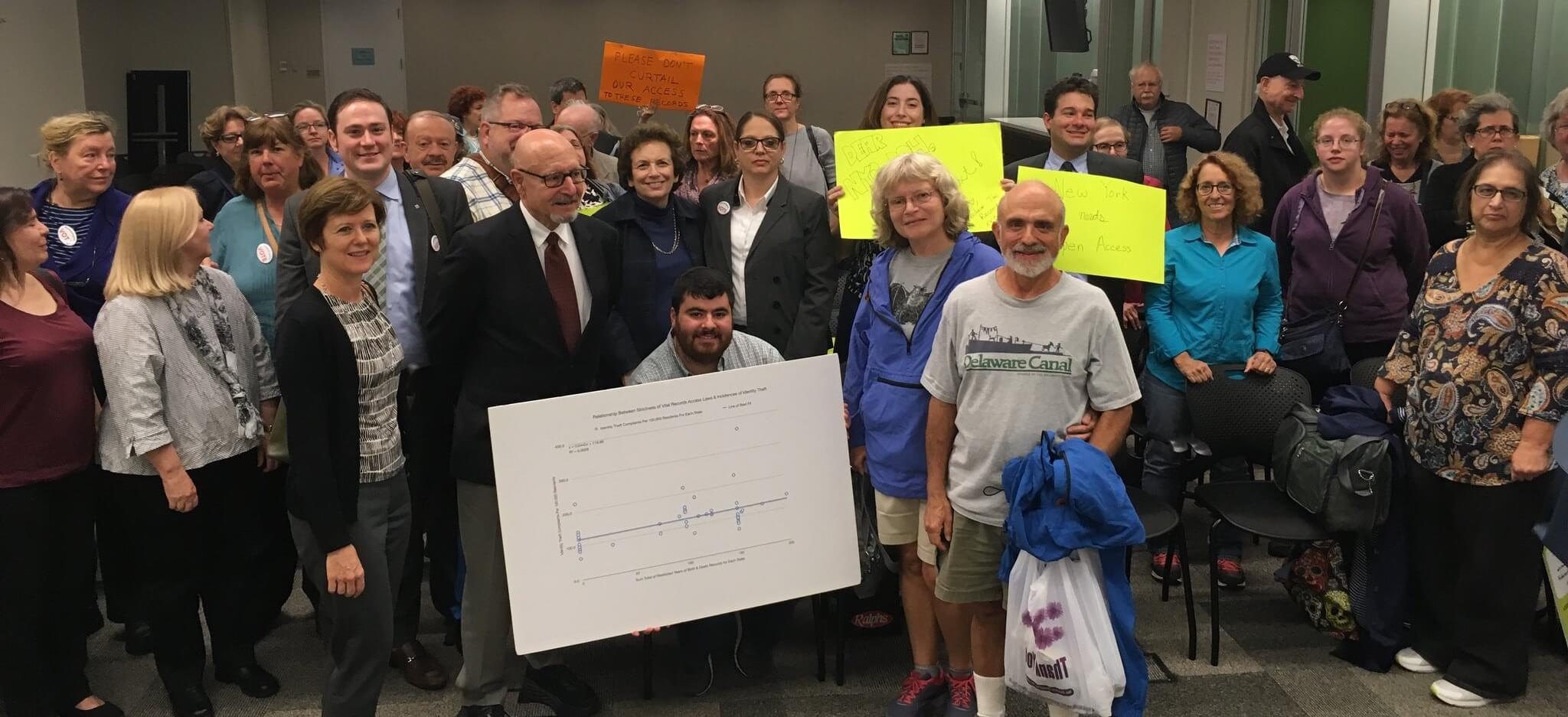Group Photo at NYC DOH public comments hearing, October 2017
